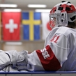 MALMO, SWEDEN - MARCH 31:  Switzerland's Florence Schelling #41 warms up before facing off against Team Japan during preliminary round action at the 2015 IIHF Ice Hockey Women's World Championship. (Photo by Francois Laplante/HHOF-IIHF Images)